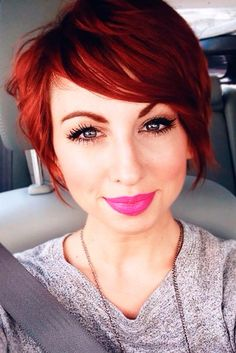 Stylish Upgrade Ideas for Your Short Red Hair ★ See more: http://lovehairstyles.com/stylish-ideas-short-red-hair/