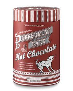My favorite hot chocolate: Williams-Sonoma Peppermint Bark Hot Chocolate