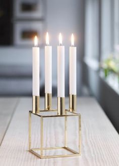 By Lassen #advent #candle #holder #gold