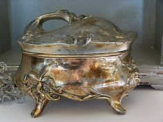 Please visit my shop on Etsy.  Vintage silverplate jewelry box / jewelry by cgraceandcompany
