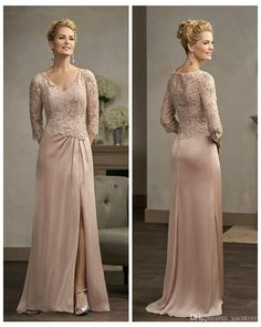 Never miss the chance to get the best stylish mother of the bride dresses,summer mother of the bride dresses knee lengthand summer mother of the groom dresses on DHgate.com. The cheap elegant lace chiffon long mother's dresses 2016 half sleeves mother of the bride dresses side splits formal dress cheap is for sale in yaostore and buy it now!