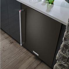 KitchenAid KURR304EBS 5.1 cu. ft. Under-Counter Refrigerator w/ Glass Doors - Black  alternate image
