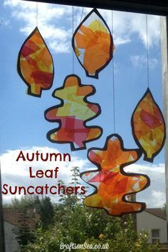 These autumn leaf suncatchers are a great craft for your little ones and a fun way to welcome in fall!