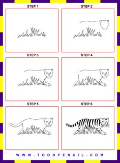 how to draw a tiger for kids - Google Search