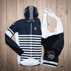 | Sailor bibs are back in Stock  We hope everybody will have a great weekend and let you know that the #sailor bib shorts are now on the webshop.  Sailor bib shorts Long sleeve Sailor jersey Sailor cap  #laflammerouge #lfr