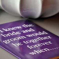 Wedding Guest Book Alternative: This guest book is the perfect way to engage your wedding guests. Placing one of these books at each dinner table is a great way to spark conversation and generate inspirational notes that you will be able to revisit for years to come.
