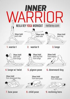 Loss and Yoga Inner Warrior Yoga Workout . going to switch warrior 3 for downward dog, since…Inner Warrior Yoga Workout . going to switch warrior 3 for downward dog, since… Fitness Workouts, Yoga Fitness, Fitness Man, At Home Workouts, Fitness Jokes, Men's Health Fitness, Weight Workouts, Fitness Hacks, Fitness Weightloss