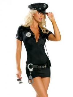 Thereu0027ll be no shortage of criminal activity when you are seen wearing this Sexy Police Mini Dress Costume. Sexy Police Costume In Mini Dress Style With V ...  sc 1 st  Pinterest : adult police costumes  - Germanpascual.Com