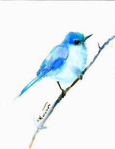 Mountains Bluebird original one of a kind by ORIGINALONLY on Etsy