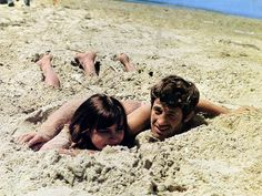 thehausucat: Anna Karina and Jean-Paul Belmondo in Pierrot Le Fou (1965)