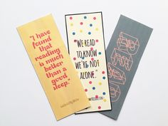 3 Free Printable Bookmarks