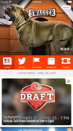 Stay connected with the latest Browns news, stats, videos and podcasts.
