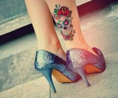 Sugar Skull tattoo design~~ Like this placement!