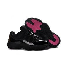 purchase cheap b637b 7e220 81.00 air jordan xi low,2017 Air Jordan 11 Low Black Pink Lovers Shoes For