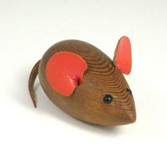 wooden mouse toy