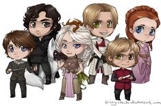 Game of Thrones Chibis by Kinky-chichi.deviantart.com on @deviantART
