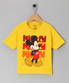 Yellow 'Mickey Mickey Mickey' Tee - Toddler #zulily #zulilyfinds