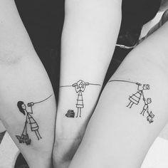 Tin can telephone line tattoos via Sarah Anne