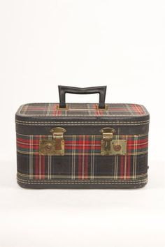 Plaid Train Case