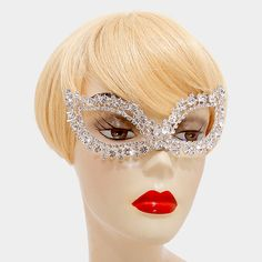 Crystal Rhinestone Cat Eye Mask - Ice It #iceit #crystal #rhinestone #fashionista #dragqueen #drag #party #sexy