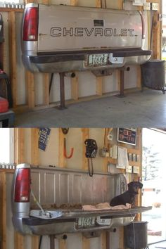 recycled truck gate - great for a garage