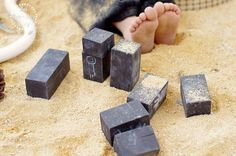 Chalkboard Blocks in the Sand Pit {An Everyday Story}