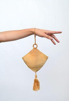 Tassel Purse: ca. 1920's, Canadian, silk thread tassel, cloth lined.