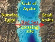 The Red Sea Crossing Site in the Gulf of Aqaba.