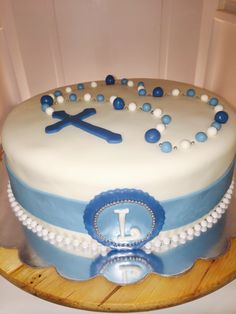 Boy first communion cake