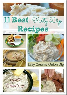 11 Best Party Dip Recipe Ideas - will be using these for Super Bowl!