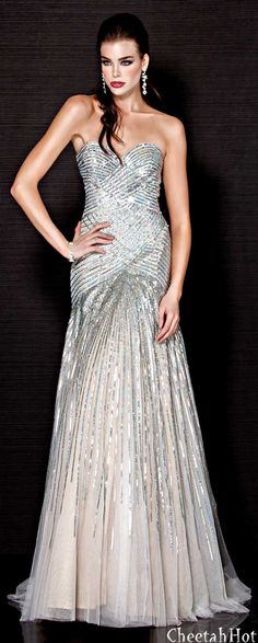 JOVANI - Ivory   Nude Gown Beautiful Gowns a9e6d08eb243