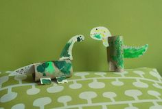 26 dinosaurs craft http://hative.com/homemade-animal-toilet-paper-roll-crafts/