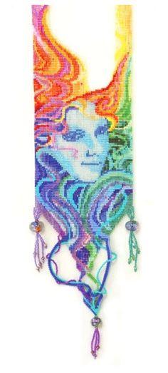 Iris Necklace by Margie Deeb