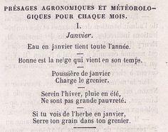 Présages agronomiques et méteorologiques, le Grillon 1863 - Bfm Limoges.
