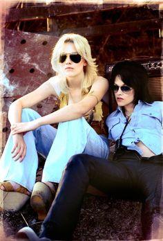 Kristen and Dakota in the Runaways. Like Kristen as a lesbian rock star