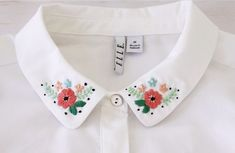 A little embroidery goes a long way to add personality and style to a plain shirt. Bev from Flamingo Toes shows how to add a floral stitch design to the collar of a shirt. You can add it to a shi…