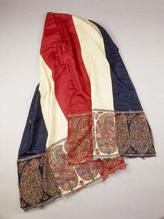 Shawl owned by Hortense Bonaparte, Queen of Holland; it was a gift from Napoleon who prevously used it as a  sash  during the Egyptian Campaign.