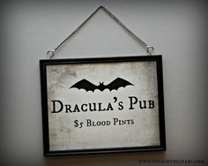 Polish The Stars: Printable Dracula's Pub Sign