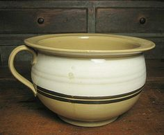 Fantastic antique American yellowware - from the Ruby Lane shop Hannah's House Antiques