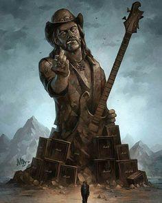 Born to Lose, Live to Win Lemmy monumental fan art by Matt Dixon. Heavy Metal Rock, Heavy Metal Music, Heavy Metal Bands, Music Artwork, Metal Artwork, Art Music, Rock And Roll, Metallica, Band Wallpapers