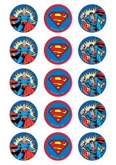 Superman cupcake toppers (15)
