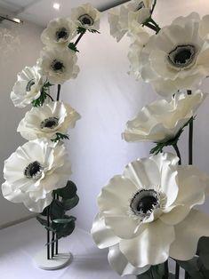 Paper pom pom flowers weddings decorations flower wall back Paper Flowers Craft, Large Paper Flowers, Paper Flower Wall, Crepe Paper Flowers, Paper Flower Backdrop, Giant Paper Flowers, Flower Crafts, Pom Pom Flowers, Diy Flowers