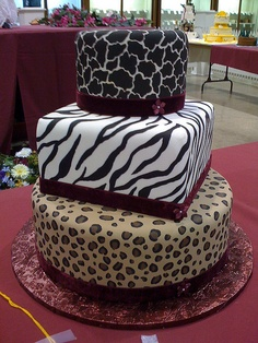 Animal Print Hat Boxes cake by Mcoughlin, via Flickr