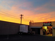 Sun setting on the shop :)