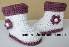 Free baby crochet pattern boots with cuffs uk Imagine in boy colours