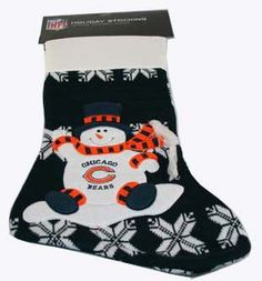 """6330 Bears Christmas Stocking 10"""" x 20"""" ChicagoFireAndCopShop.com Chicago Fire Department and Chicago Police Department gifts."""