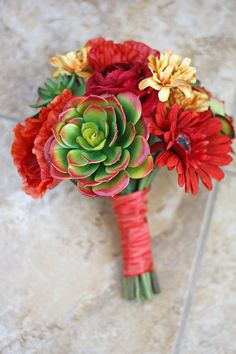 Southern Girl Weddings - succulent bouquet