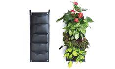 Groupon Goods Global GmbH: 1 of 2 plantzakken voor aan de muur met 5 vakken