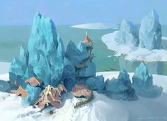 ArtStation - glacier dock, lee changwhan