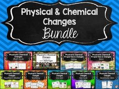 """This zipped file is filled with 9 of my physical & chemical changes products. By purchasing this bundle, you are not only getting a discount, but you are """"locked into"""" this price and will receive all additional physical & chemical changes products for free."""